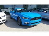 2017 Grabber Blue Ford Mustang EcoBoost Premium Coupe #115759385