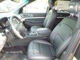 2017 Ford Explorer XLT 4WD Ebony Black Interior