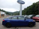 2016 Deep Impact Blue Metallic Ford Fusion SE AWD #115813056