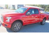 2016 Race Red Ford F150 XLT SuperCab 4x4 #115813242