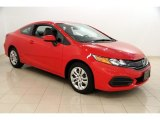 2015 Rallye Red Honda Civic LX Coupe #115813118