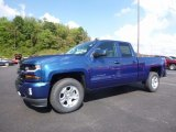 2017 Deep Ocean Blue Metallic Chevrolet Silverado 1500 LT Double Cab 4x4 #115813015