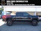 2017 Black Chevrolet Silverado 1500 LT Crew Cab 4x4 #115838307