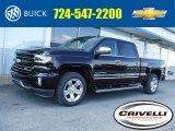 2017 Black Chevrolet Silverado 1500 LTZ Crew Cab 4x4 #115924266