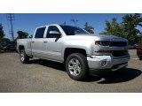 2017 Silver Ice Metallic Chevrolet Silverado 1500 LT Crew Cab 4x4 #115923954