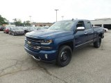 2017 Deep Ocean Blue Metallic Chevrolet Silverado 1500 LTZ Double Cab 4x4 #115924376