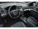 2017 Ford Explorer XLT Ebony Black Interior