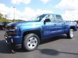 2017 Deep Ocean Blue Metallic Chevrolet Silverado 1500 LT Double Cab 4x4 #116020862