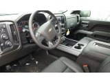 2017 Chevrolet Silverado 1500 LTZ Crew Cab 4x4 Jet Black Interior