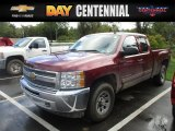 2013 Deep Ruby Metallic Chevrolet Silverado 1500 LS Extended Cab 4x4 #116051041