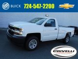 2017 Summit White Chevrolet Silverado 1500 WT Regular Cab 4x4 #116051231