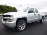 2017 Silver Ice Metallic Chevrolet Silverado 1500 Custom Double Cab 4x4 #116076291