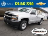 2017 Silver Ice Metallic Chevrolet Silverado 1500 WT Regular Cab 4x4 #116076380