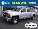 2017 Silver Ice Metallic Chevrolet Silverado 1500 LT Crew Cab 4x4 #116076381