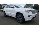 2017 Bright White Jeep Grand Cherokee Overland 4x4 #116117038