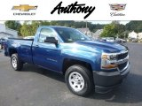 2017 Deep Ocean Blue Metallic Chevrolet Silverado 1500 WT Regular Cab 4x4 #116117304