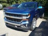 2017 Deep Ocean Blue Metallic Chevrolet Silverado 1500 LT Double Cab 4x4 #116138706