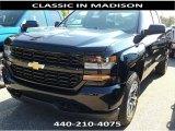2017 Black Chevrolet Silverado 1500 Custom Double Cab 4x4 #116195874