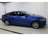 2017 Lightning Blue Ford Fusion SE #116195483