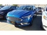 2017 Lightning Blue Ford Fusion SE #116223013