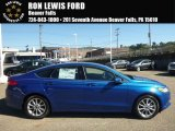 2017 Lightning Blue Ford Fusion SE #116222801