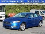 2017 Lightning Blue Ford Fusion SE #116286946
