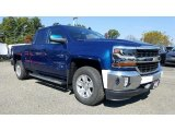 2017 Deep Ocean Blue Metallic Chevrolet Silverado 1500 LT Double Cab 4x4 #116411985