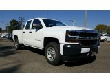 2017 Summit White Chevrolet Silverado 1500 WT Double Cab 4x4 #116411977