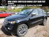 2017 Diamond Black Crystal Pearl Jeep Grand Cherokee Overland 4x4 #116412061