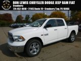2017 Bright White Ram 1500 Big Horn Crew Cab 4x4 #116412054