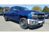 2017 Deep Ocean Blue Metallic Chevrolet Silverado 1500 LT Double Cab 4x4 #116412007