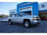 2017 Silver Ice Metallic Chevrolet Silverado 1500 LT Double Cab #116433053