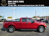 2013 Ruby Red Metallic Ford F150 XLT SuperCab 4x4 #116432849