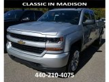 2017 Silver Ice Metallic Chevrolet Silverado 1500 Custom Double Cab 4x4 #116464172