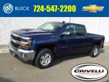 2017 Deep Ocean Blue Metallic Chevrolet Silverado 1500 LT Double Cab 4x4 #116464140