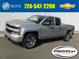 2017 Silver Ice Metallic Chevrolet Silverado 1500 Custom Double Cab 4x4 #116464134