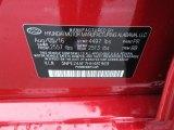 2017 Sonata Color Code for Scarlet Red - Color Code: PR