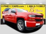 2017 Red Hot Chevrolet Silverado 1500 Custom Double Cab 4x4 #116511308