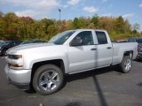 2017 Silver Ice Metallic Chevrolet Silverado 1500 Custom Double Cab #116511427
