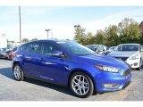 2015 Performance Blue Ford Focus SE Hatchback #116554355