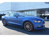 2017 Lightning Blue Ford Mustang Ecoboost Coupe #116554353