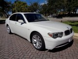 Alpine White BMW 7 Series in 2003