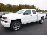 2017 Summit White Chevrolet Silverado 1500 Custom Double Cab 4x4 #116611494