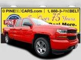 2017 Red Hot Chevrolet Silverado 1500 Custom Double Cab 4x4 #116633228
