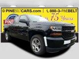 2017 Black Chevrolet Silverado 1500 Custom Double Cab 4x4 #116633221