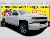 2017 Summit White Chevrolet Silverado 1500 Custom Double Cab 4x4 #116633220