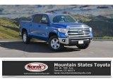 2017 Blazing Blue Pearl Toyota Tundra SR5 CrewMax 4x4 #116633201