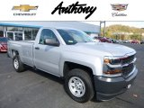 2017 Silver Ice Metallic Chevrolet Silverado 1500 WT Regular Cab 4x4 #116665813
