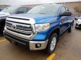 2017 Blazing Blue Pearl Toyota Tundra SR5 Double Cab 4x4 #116665704