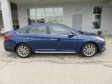2017 Lakeside Blue Hyundai Sonata Limited #116665447